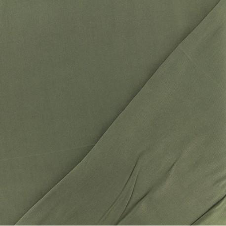 Tissu viscose sergé - kaki x 10 cm