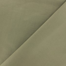 Twill viscose fabric - Olive green x 10 cm