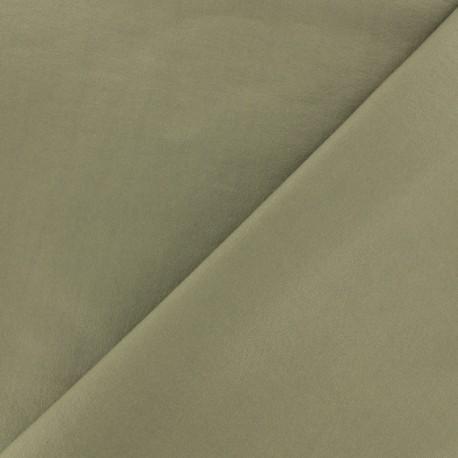 Tissu viscose sergé - vert olive x 10 cm