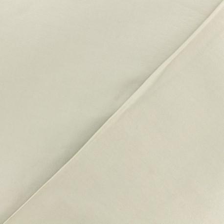 Tissu viscose sergé - écru x 10 cm