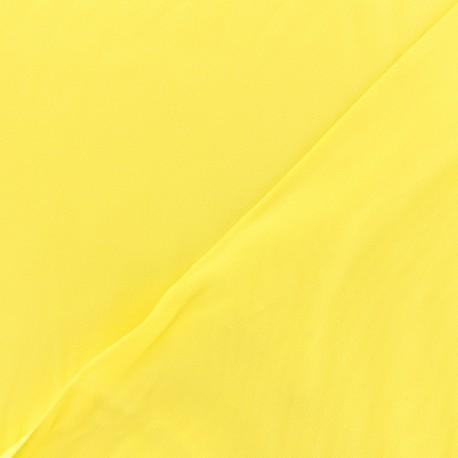 Tissu viscose sergé - Jaune x 10 cm