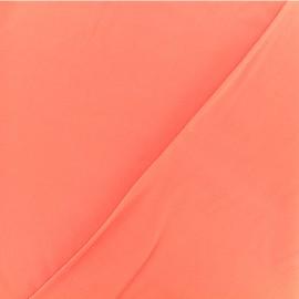 Tissu twill viscose - Corail x 10 cm