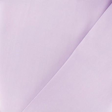 Tissu viscose sergé - lilas x 10 cm