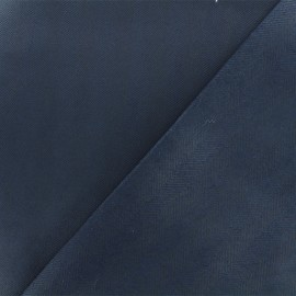Coated Bengaline fabric - Navy blue x 10cm