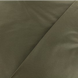 Coated Bengaline fabric - Olive green x 10cm
