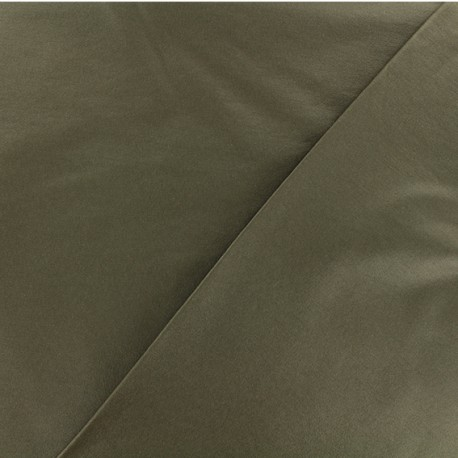 Coated Bengaline fabric - Olive green x 10cm