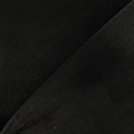 Tissu Bengaline enduit - noir x 10cm