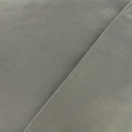 Coated Bengaline fabric - grey x 10cm