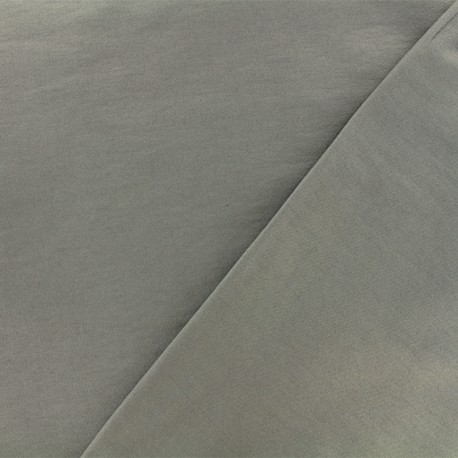 Coated Bengaline fabric - grey x 10cm