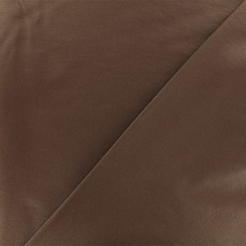 Coated Bengaline fabric - brown x 10cm