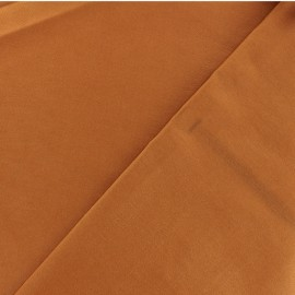 Coated Bengaline fabric - cognac x 10cm