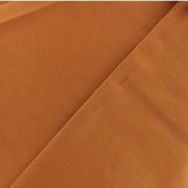 Tissu Bengaline enduit - cognac x 10cm