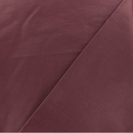 Coated Bengaline fabric - deep purple x 10cm