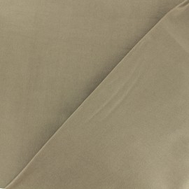 Coated Bengaline fabric - Light Taupe x 10cm