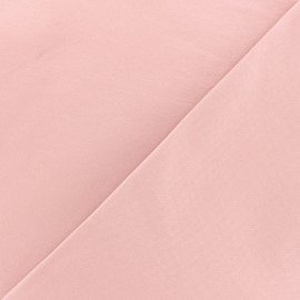 Coated Bengaline fabric - pink x 10cm