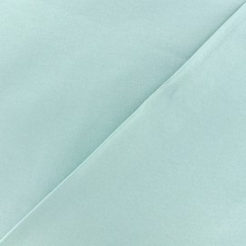 Coated Bengaline fabric - cold blue x 10cm