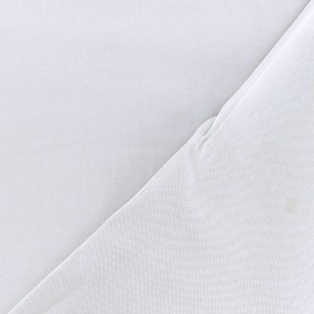 Tissu viscose sergé - gris clair x 10 cm