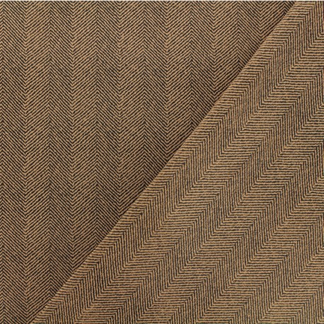 Neoprene scuba fabric - Brown chevron x 10cm