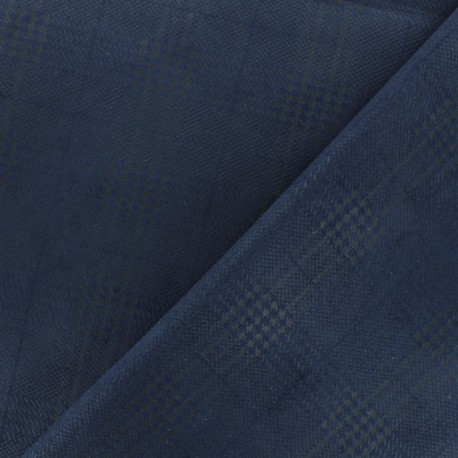 Tissu Néoprène Scuba Prince de Galles - Marine x 10cm