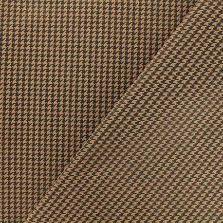 Tissu Néoprène Scuba Pied de poule - brun x 10cm