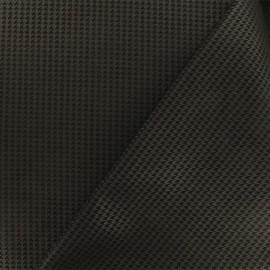 Neoprene scuba fabric - Black Pied de poule x 10cm
