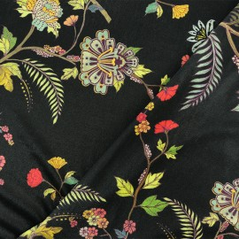 Elastane velvet fabric - Black Alanis x10cm