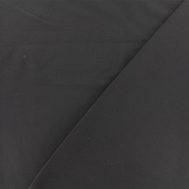 Twill viscose fabric - dark grey x 10 cm