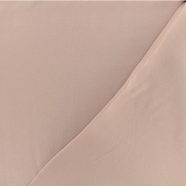 Twill viscose fabric - Old pink x 10 cm