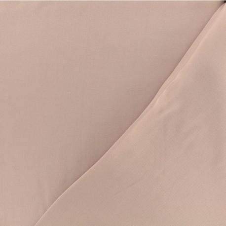 Tissu viscose sergé - Vieux rose x 10 cm