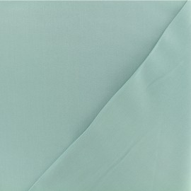Twill viscose fabric - Opal green x 10 cm
