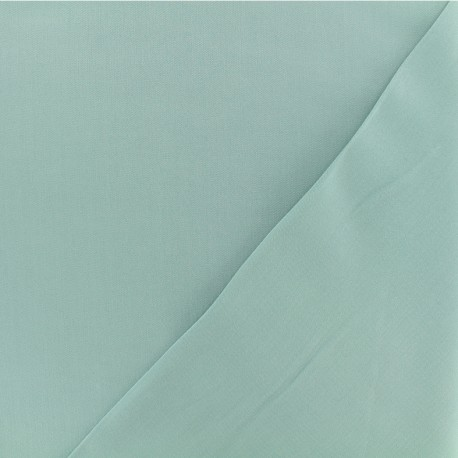Twill viscose fabric - Opal green x 10 cm