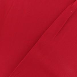 Tissu twill viscose - Rouge x 10 cm