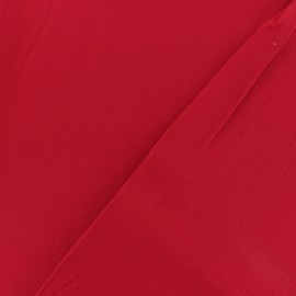 Twill viscose fabric - Red x 10 cm