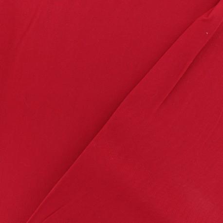 Tissu viscose sergé - Rouge x 10 cm
