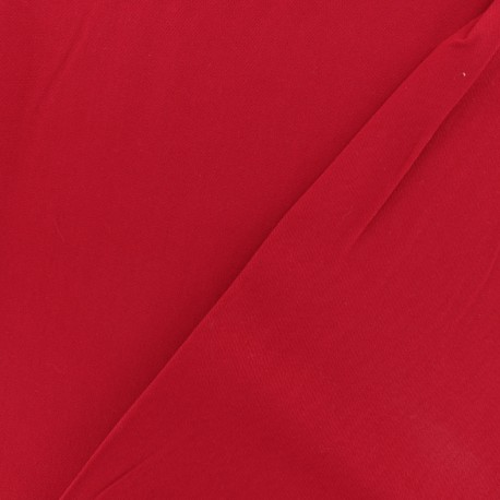Twill viscose fabric - Red x 10 cm