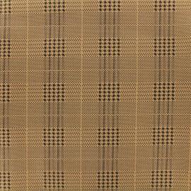Tissu Néoprène Scuba Prince de Galles - Cognac x 10cm