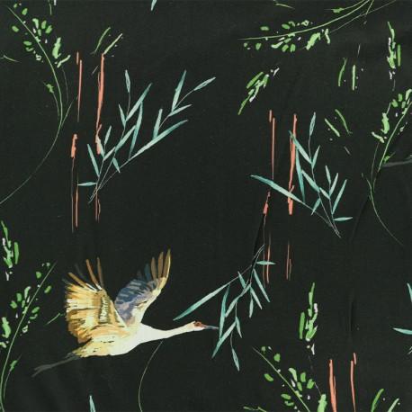 Tissu Viscose Canard sauvage - noir x 10cm
