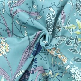 ♥ Coupon tissu 10 cm X 140 cm ♥ Viscose Nara - Bleu clair
