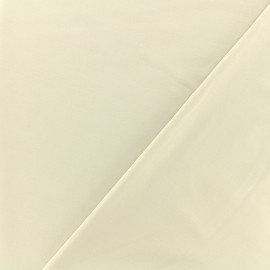 Coated Bengaline fabric - beige x 10cm