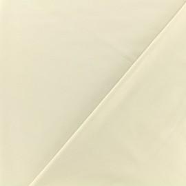 Tissu Bengaline enduit - beige x 10cm