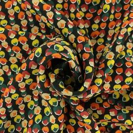 Tissu Viscose crêpé Passion Noisette - noir x 10cm