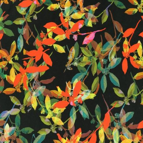 Viscose Fabric - Black Marisa x 10cm