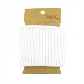 Bord cote coton Oeko-tex (110x8cm) - blanc