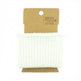 Bord cote coton Oeko-tex (110x8cm) - blanc cassé