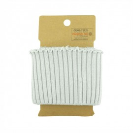 Cotton ribbed cuffs  (110x8cm) - light grey