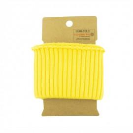 Cotton ribbed cuffs  (110x8cm) - Yellow