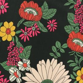 Tissu Viscose Cordoue - noir x 10cm
