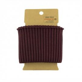 Cotton ribbed cuffs  (110x8cm) - Burgundy