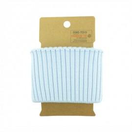 Cotton ribbed cuffs  (110x8cm) - Sky Blue