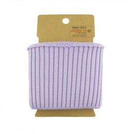 Cotton ribbed cuffs  (110x8cm) - Lilac